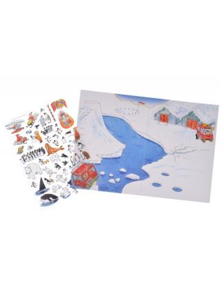 Перевідні наклейки Scribble Down Північний полюс SD/15