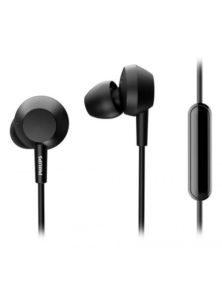 Навушники Philips TAE4105 In-ear Mic Чорний