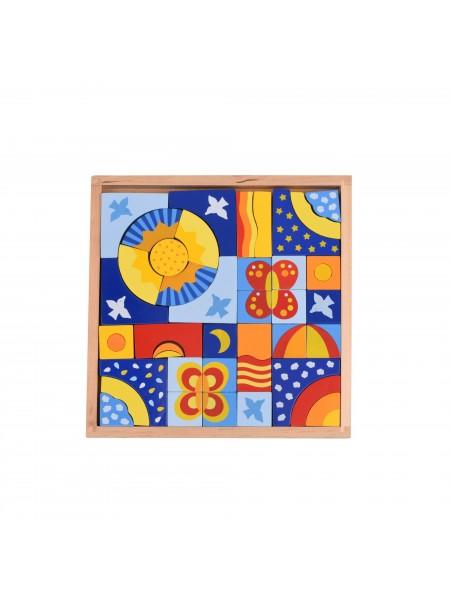 Конструктор дерев'яний goki Метелики 58646G