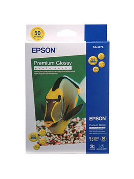 Папір преміум глянець 50 арк. Epson 13x18 Premium Gl.Paper(50sh) (C13S041875)