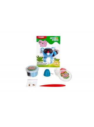 Маса для ліплення Paulinda Super Dough Circle Baby Єнот заводний механізм, синій PL-081177-2