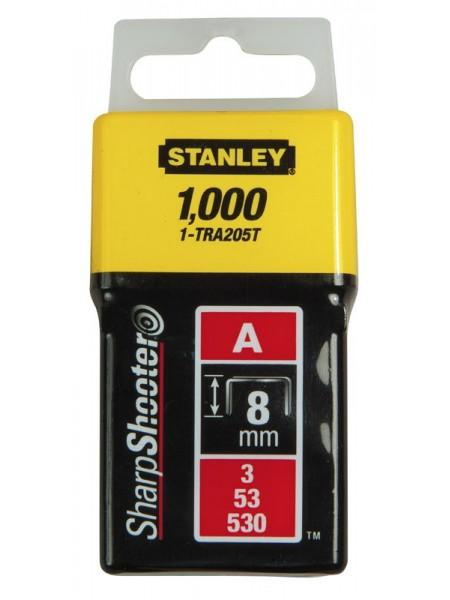 """Скоби Stanley """"Light Duty"""", тип А, 8х11.3мм, 1000шт"""
