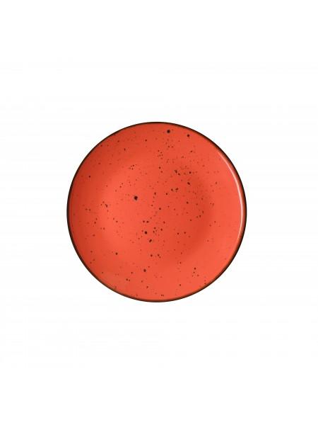 Тарілка десертна Ardesto Bagheria, 19 см, Warm apricot, кераміка (AR2919CGC)