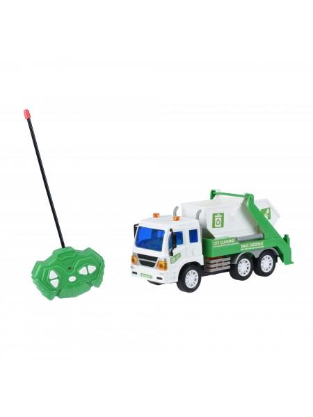 Машинка на р/к Same Toy CITY Вантажівка з контейнером зелений 1640Ut