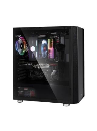 Корпус Zalman R2 BLACK, MidT,E-ATX, 2xUSB2.0,1xUSB3.0, 1x120мм RGB,скло(бічна панель),безБЖ,чорний