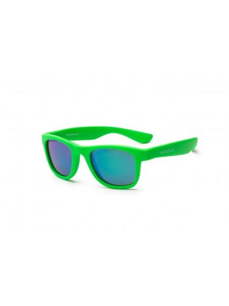 Дитячі сонцезахисні окуляри Koolsun неоново-зелені серії Wave (Розмір: 3+)