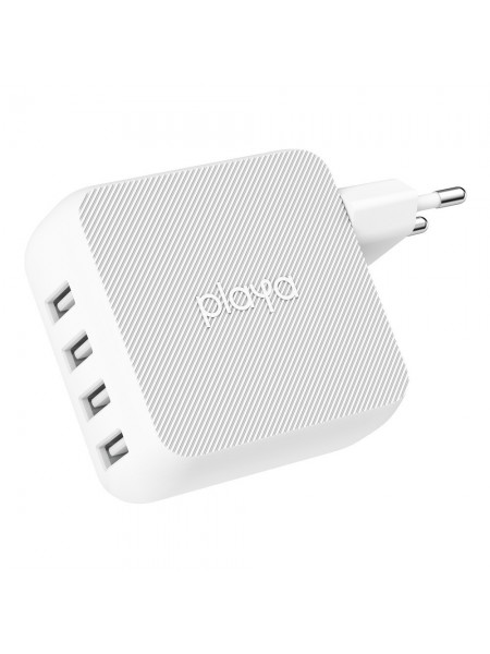 Мережевий ЗП Playa by Belkin Home Charger 40W 4-PORT USB 2.4A, white (PP0003VFC2-PBB)