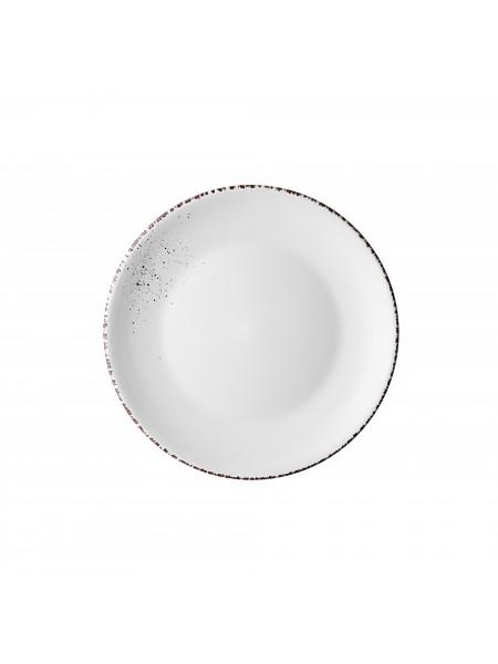 Тарілка обідня Ardesto Lucca, 26 см, Winter white, кераміка (AR2926WMC)