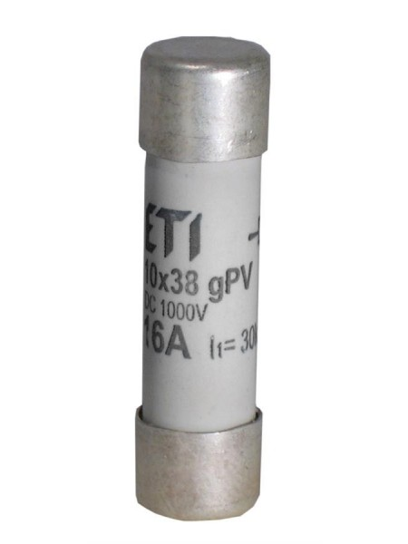 Запобіжник ETI CH 10x38 gPV 15A 1000V (30kA)