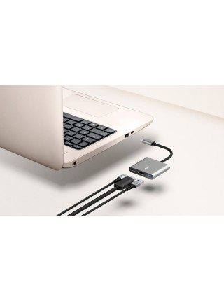 USB-хаб Trust Dalyx 3-in-1 Multiport USB-C Adapter ALUMINIUM (23772_TRUST)