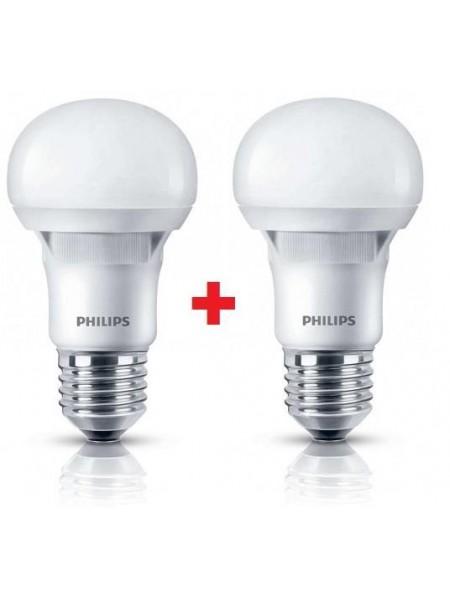 Комплект ламп світлодіодних Philips LEDBulb E27 5-40W 230V 3000K A60 Essential (1+1)