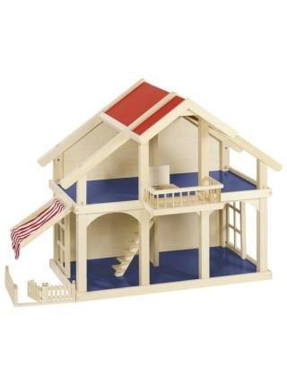Ляльковий будиночок goki 2 поверхи з внутрішнім двориком 51893G