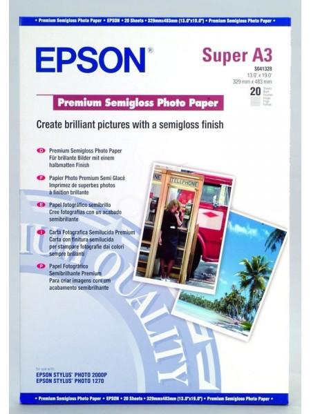 Папір Epson A3+ Premium Semigloss Photo Paper (20sh) (C13S041328)