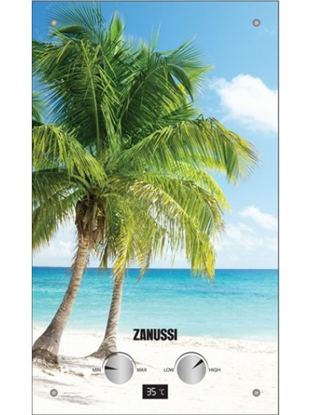 Водонагрівач газовий проточний Zanussi GWH 10 Fonte Glass Paradiso
