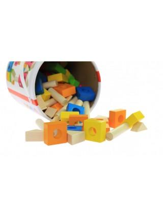 Конструктор дерев'яний goki Будівельні блоки (рожевий) 58589