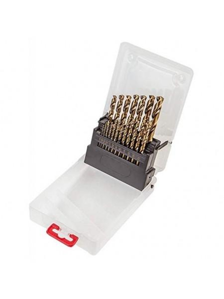Свердла по металу Verto HSS-G, 1.0 - 10.0 мм, набір 19 шт.