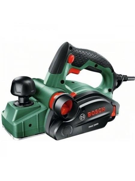 Рубанок Bosch PHO 2000, 680 Вт, ніж 82мм, стругання 2 мм, вибірка паза 8 мм, 2.4 кг (0.603.2A4.120)