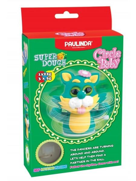 Маса для ліплення Paulinda Super Dough Circle Baby Кіт заводний механізм, зелений PL-081177-3