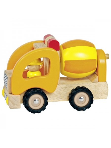 Машинка дерев'яна goki Бетонозмішувач (жовтий) 55926G