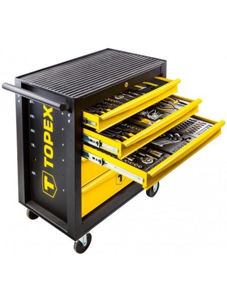 Шафа-візок інструментальна TOPEX, 5 ящиків, 455 од. інструменту, 680x460х825 мм (79R502)