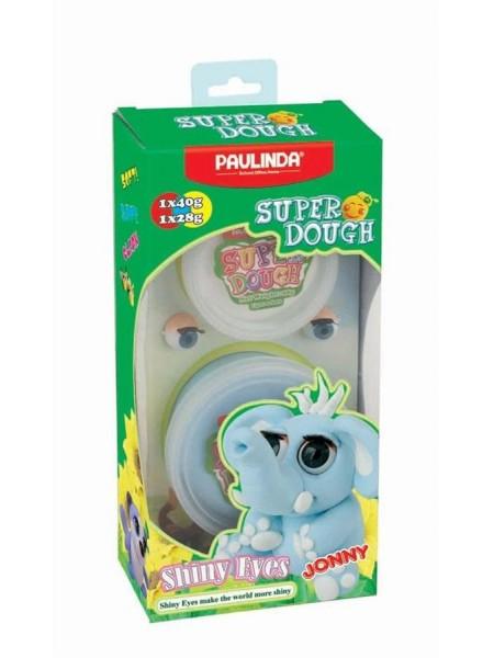 Маса для ліплення Paulinda Super Dough Shiny Eyes Слон Jonny глянцеві очі PL-081377-4