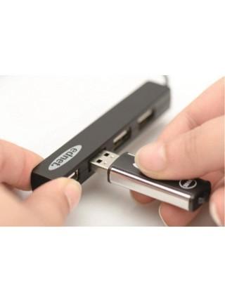 """Концентратор EDNET USB 2.0, 4 раз""""єми, чорний (85040)"""
