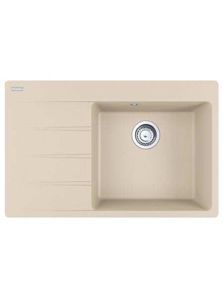 Кухонні мийки Franke Centro CNG 611-78 TL/114.0630.467/ Фраграніт/врізна/ крило зліва/780х500х20/беж