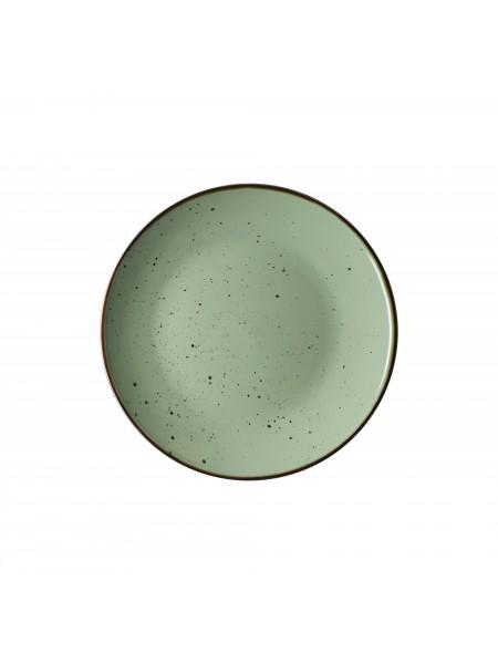 Тарілка десертна Ardesto Bagheria, 19 см, Pastel green, кераміка (AR2919GGC)