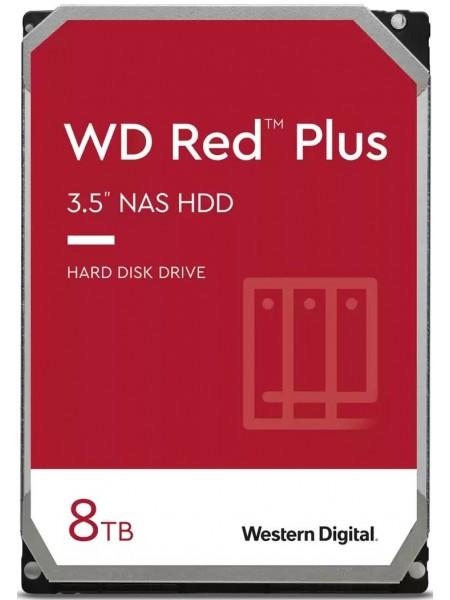 """Жорсткий диск WD 3.5"""" SATA 3.0 8TB 7200 256MB Red Plus NAS (WD80EFBX)"""