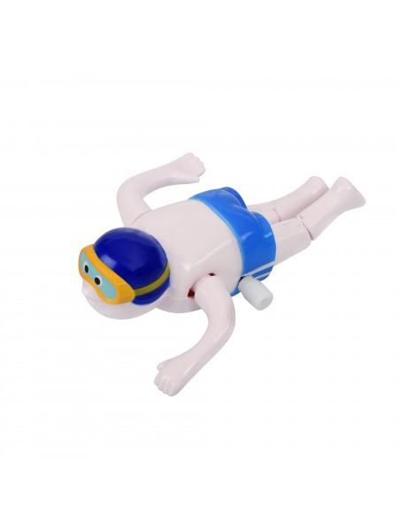 Заводна іграшка goki Плавець синій 13097G-1