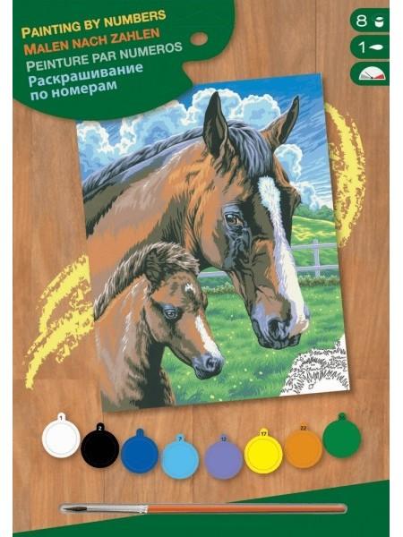 Набір для творчості Sequin Art PAINTING BY NUMBERS JUNIOR Кінь та лоша SA0030