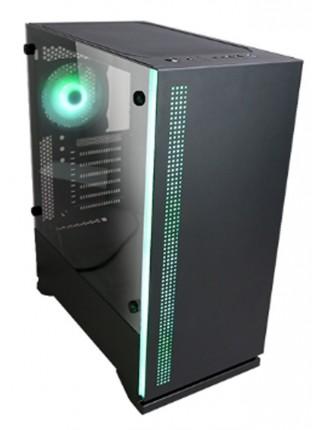 Корпус Zalman S5, MidT, 2xUSB2.0,1xUSB3.0, 1x120,1x120 RGB,скло (бокова панель),безБЖ,чорний