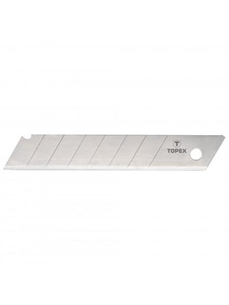 Леза TOPEX відламуються, змінні, 18 мм, набір 10 шт.