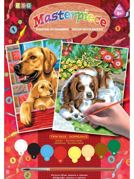 Набір для творчості Sequin Art PAINTING BY NUMBERS JUNIOR-PAIRS Собаки SA0214