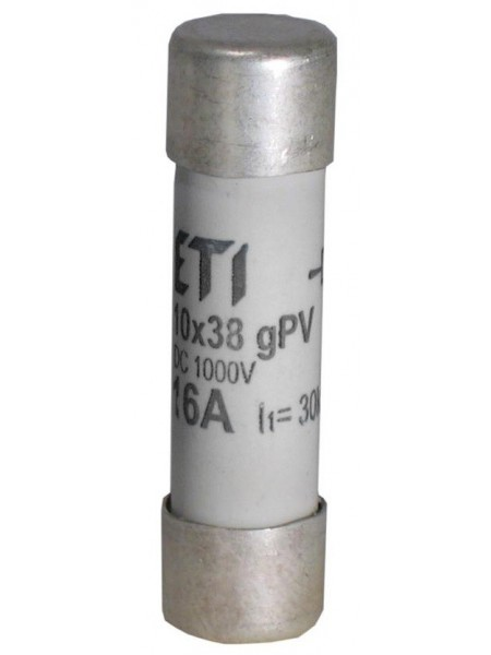 Запобіжник ETI CH 10x38 gPV 16A 1000V (30kA)