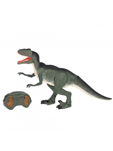 Динозавр Same Toy Dinosaur Planet Велоцираптор зелений (світло, звук) RS6134Ut