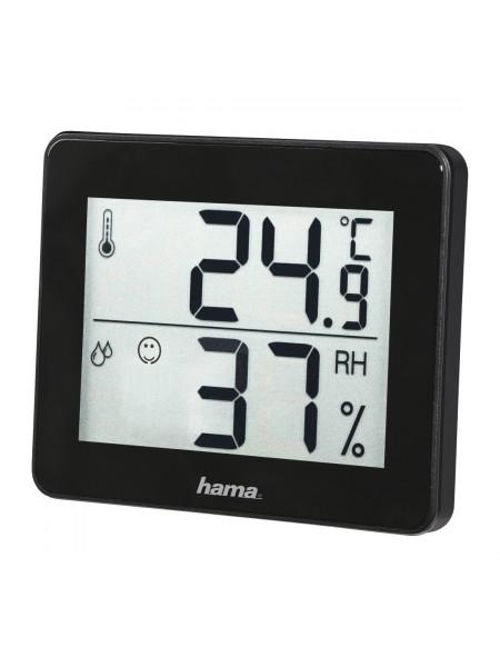 Термометр/гігрометр Hama TH-130 Black (00186361)