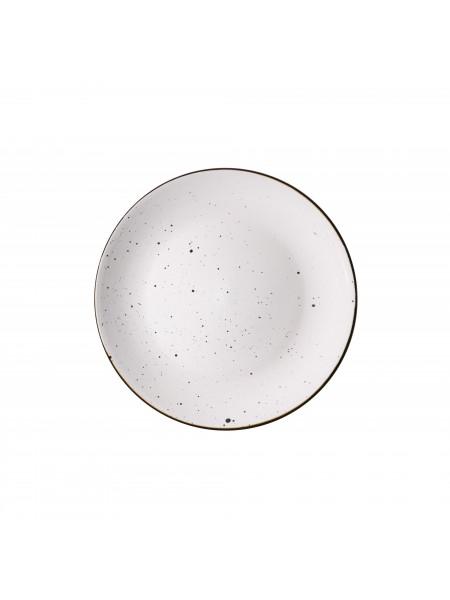 Тарілка десертна Ardesto Bagheria, 19 см, Bright white, кераміка (AR2919WGC)
