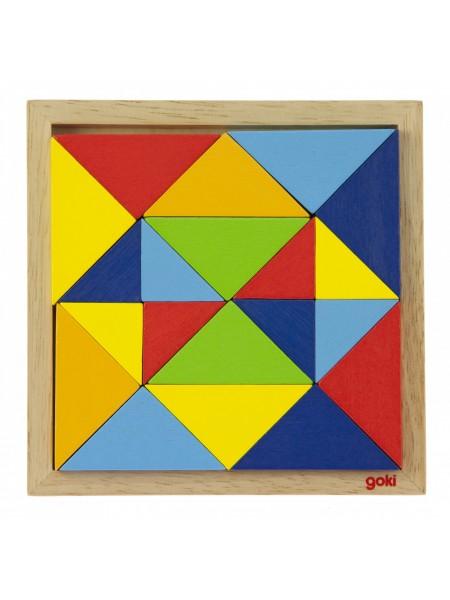 Пазл дерев'яний goki Світ форм-абстракція 57572-2