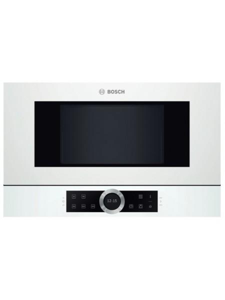 Вбудовувана мікрохвильова піч Bosch BFL634GW1 - 21л./900Ватт/TFT дисплей/білий