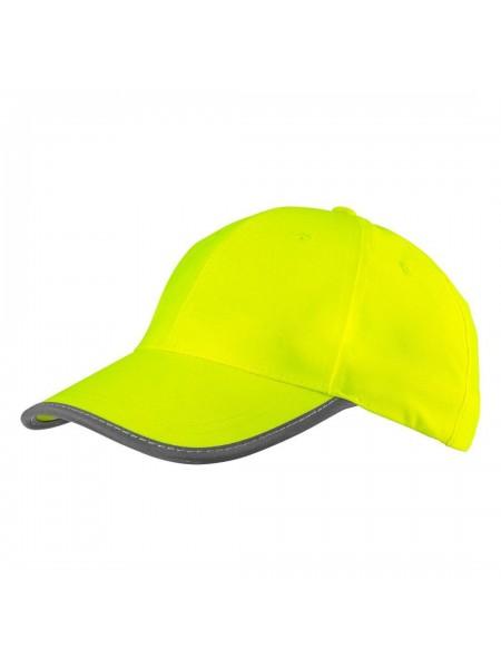 Бейсболка NEO сигнальна жовта, однотонна (81-793)