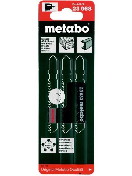 Набір пилок Metabo лобзикових 3шт. (T101B, T144D, T118A)