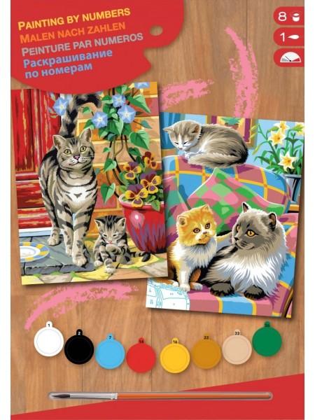 Набір для творчості Sequin Art PAINTING BY NUMBERS JUNIOR-PAIRS Коти SA0213
