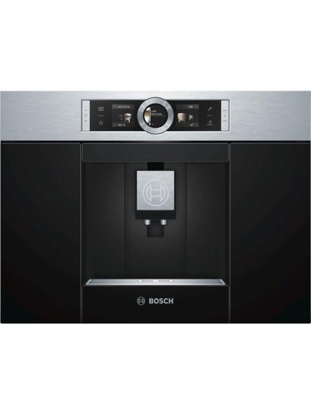 Вбудовувана кавова машина Bosch CTL636ES1 -19Бар/1600Вт/дисплей/нерж. сталь - чорний