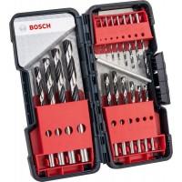 Свердла по металу Bosch HSS PointTeQ набір 18шт, 1,1.5,2,2,2.5,3,3,3.5,4,4,4.5,5,5.5,6,7,8,9,10 (2.6