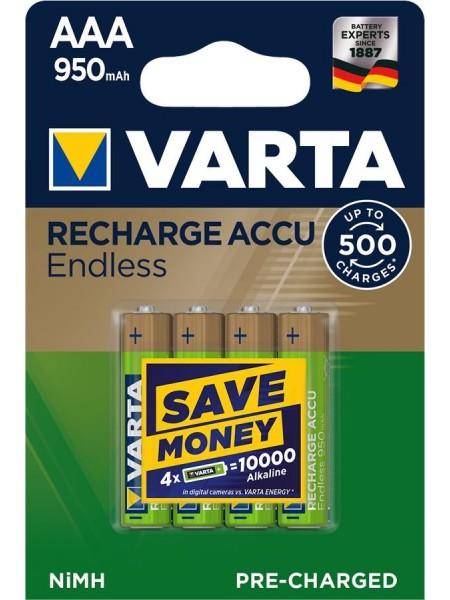 Аккумулятор VARTA RECHARGEABLE ACCU ENDLESS AAA 950mAh BLI 4 NI-MH (56683101404)