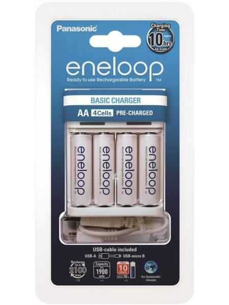 Зарядний пристрій Panasonic Basic USB Charger+eneloop 4AA 1900 mAh (K-KJ61MCC40USB)