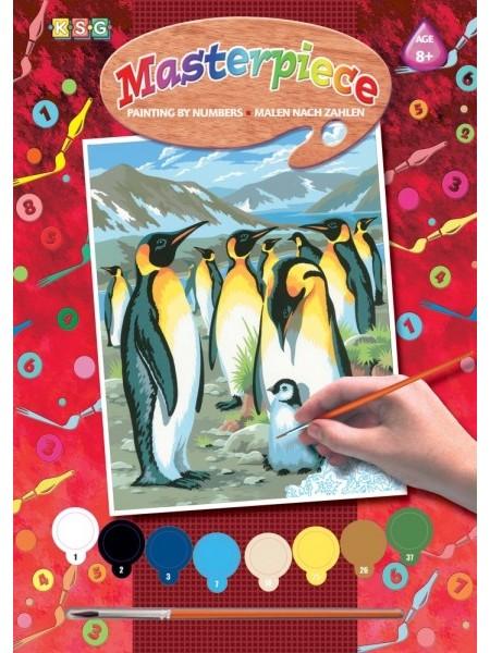 Набір для творчості Sequin Art PAINTING BY NUMBERS JUNIOR Пінгвіни SA0033