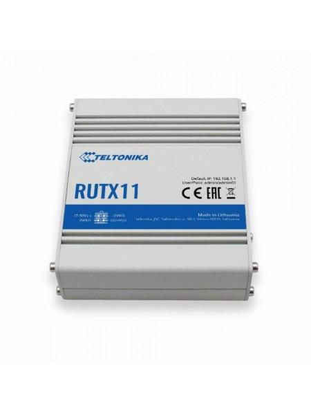 Індустріальний 4G LTE Cat.6 маршрутизатор, 2 SIM Teltonika RUTX11 (RUTX11000000)