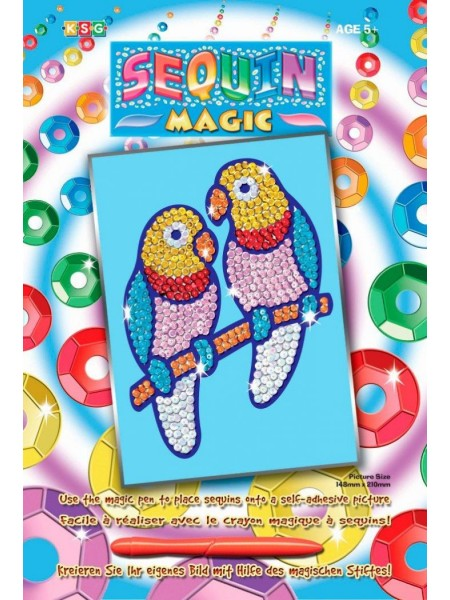 Набір для творчості Sequin Art SEQUIN MAGIC Папуги нерозлучники SA0903